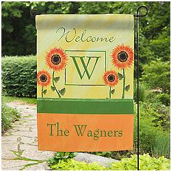 Personalized Summer Sunflowers Garden Flag