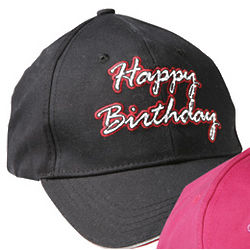 Happy Birthday LED Baseball Hat