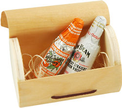 Mini Wood Champagne Box Favor