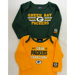 Long-Sleeve Green Bay Packers Baby Bodysuits