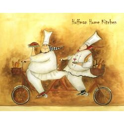 Bicycle Delivery Chefs Personalized Art Print