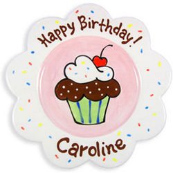 Girl's Personalized Happy Birthday Plate
