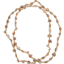 Shell and Beads Long Necklace