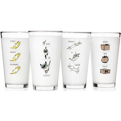 Video Kitty Glass Tumblers