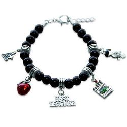 Teacher Charm Bracelet in Silver