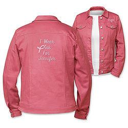I Wear Pink Personalized Women's Jacket