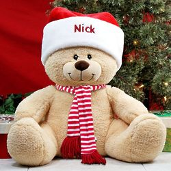 Large Personalized Holiday Sherman Teddy Bear