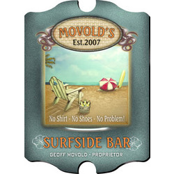 "Vintage Personalized ""Surfside"" Bar Sign"