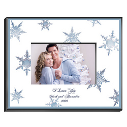 Personalized Crystal Snowflake Frame