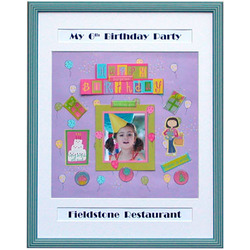 Personalized Scrapbook Frame