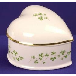 Large Heart Box with Shamrocks