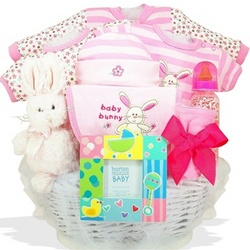 Some Bunny Loves Me Baby Girl Gift Basket