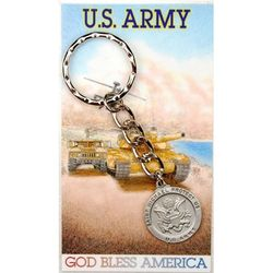 US Army St. Michael Keyring and Prayer Card Set