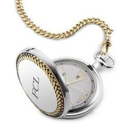 Classic White Dial Pocket Watch