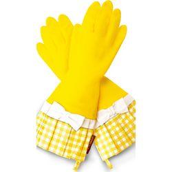 Luscious Lemons Gingham Gloves