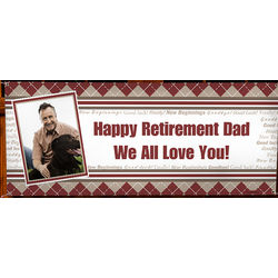 Personalized Photo Happy Retirement Party Banner