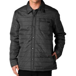 Resolute Full Button Grey Puffer Jacket