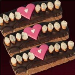 Dark Chocolate Biscotti Valentine Gift Box