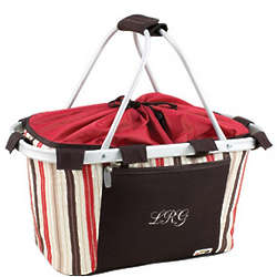 Chic Embroidered Collapsible Picnic Basket
