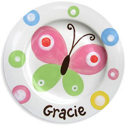 Butterfly Sky Personalized Ceramic Plate