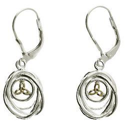 Celtic Cradle of Life Drop Earrings