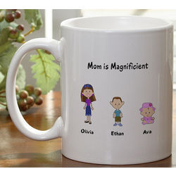 Personalized Family Cartoon Character Coffee Mug