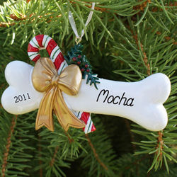 Dog Bone Personalized Christmas Ornament