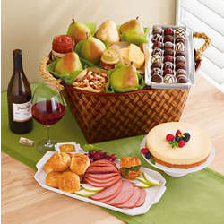 Table Rock Ham Buffet Gift Basket with Wine