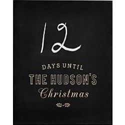Christmas Countdown Personalized Chalkboard