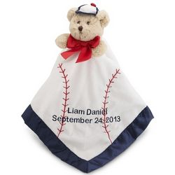 Baseball Snuggler Bear Blanket