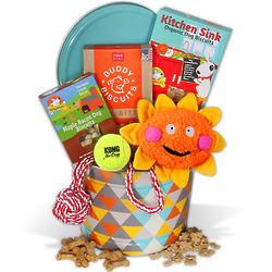 Dog Toys and Treats Gift Basket