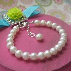 Pampered in Pearls Freshwater Pearl Baby or Child Bracelet