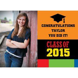 Congrats Grad Custom Photo Yard Sign