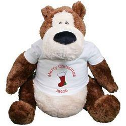 Personalized Christmas Goober Teddy Bear