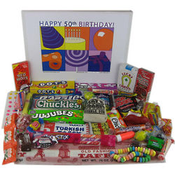 50th Birthday Retro Candy Gift Box