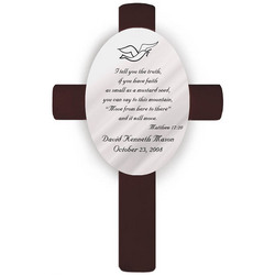 Personalized Matthew 17:20 Confirmation Cross