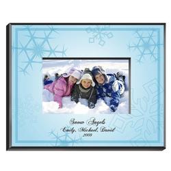 Personalized Le Bleu Snowflake Frame