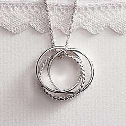 Trinity Rings Necklace