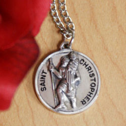 Personalized St. Christopher Medal Pendant