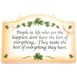 People in Life Irish Wall Plaque