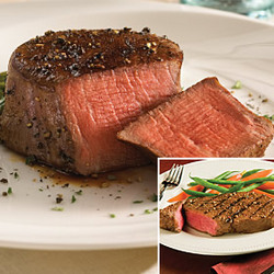 The International Filet Mignon and Boneless Strip Steak Duo
