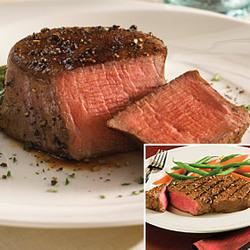 The International Filet Mignon and Boneless Strip Steak Duo