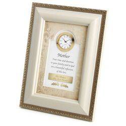 Mother Picture Frame Clock