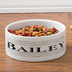 Doggie Delights Large Personalized Dog Dish