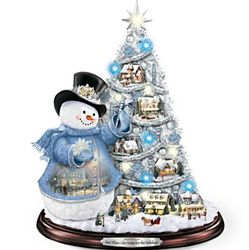 Thomas Kinkade Snowman Pre-Lit Christmas Tree