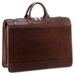 Saddle Zip Top Briefcases