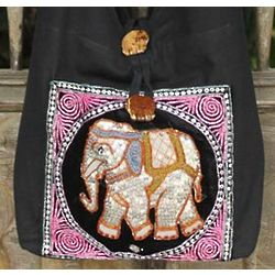 Pink Elephant Sling Tote