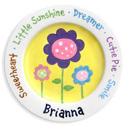 Baby's Personalized Little Sunshine Ceramic Plate