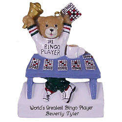 Bingo Bear Personalized Ornament