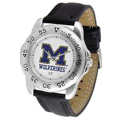 NCAA Men's Leather Band Sports Watch